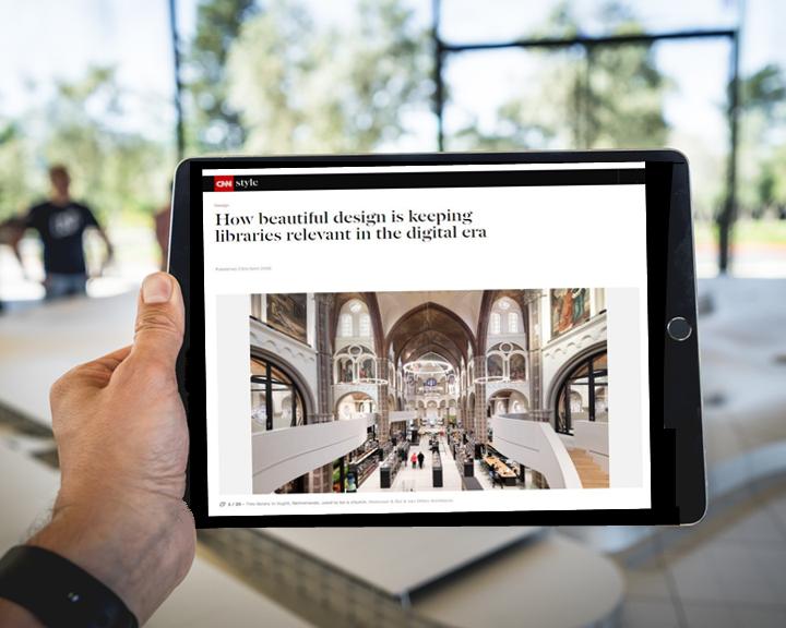 iPad met artikel